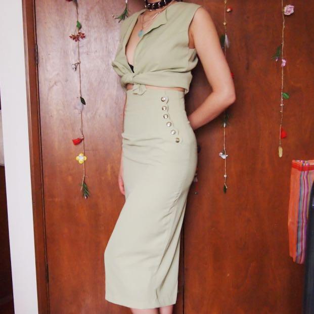 Vintage 60s Green Business / Formal Set
