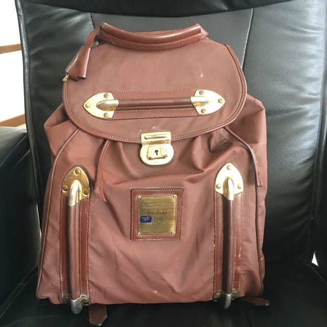 Vintage Piero Guidi Lineabold Brown Large BackPack