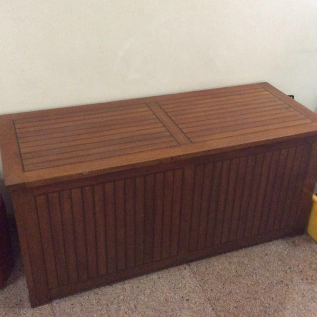 U003cRESERVEDu003e Vintage Teak Storage Trunk, Furniture, Shelves U0026 Drawers On  Carousell