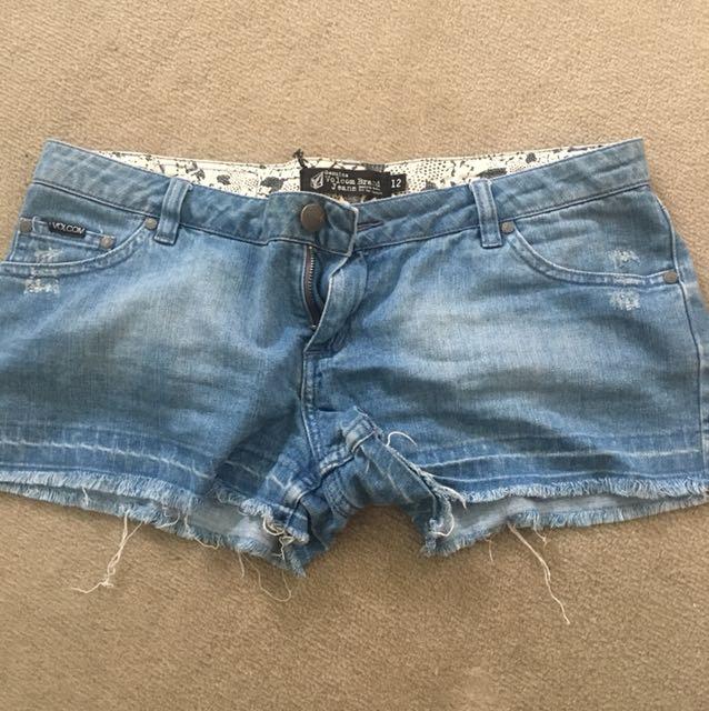Volcom denim shorts