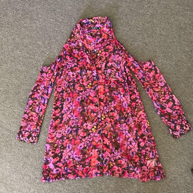 Vonzipper floral summer beach dress size 8