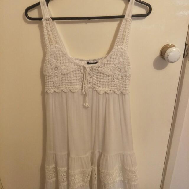 White Caroline Morgan dress (size 12)