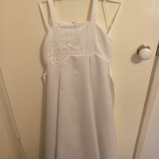 White Communion/Wedding Dress (size 12)