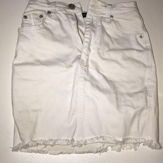 White Fox Boutique denim skirt