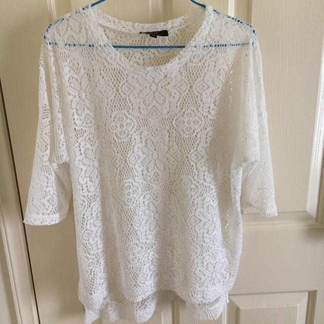 White lace long sleeve