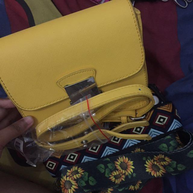 Zara Crossbody Bag Yellow