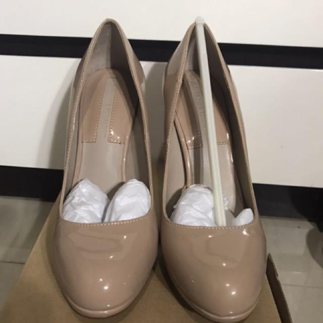 Zara nude winter season heels