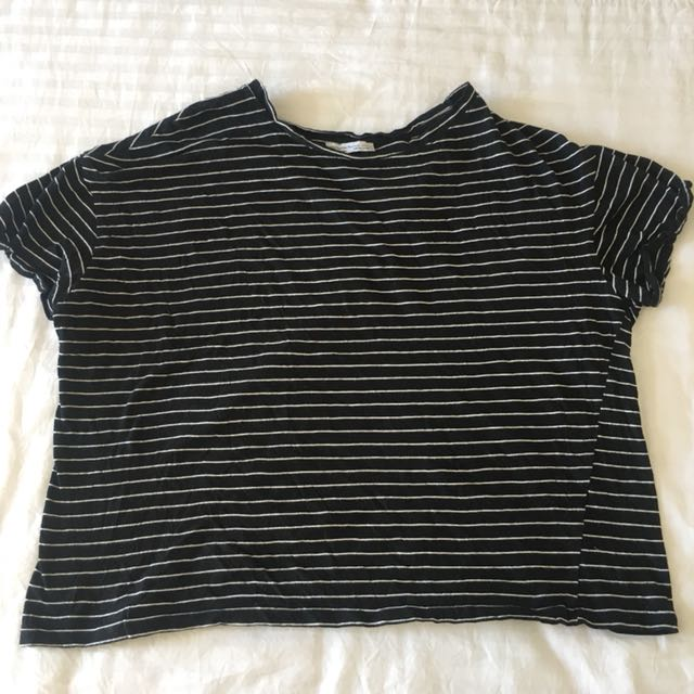 Zara stripes crop top