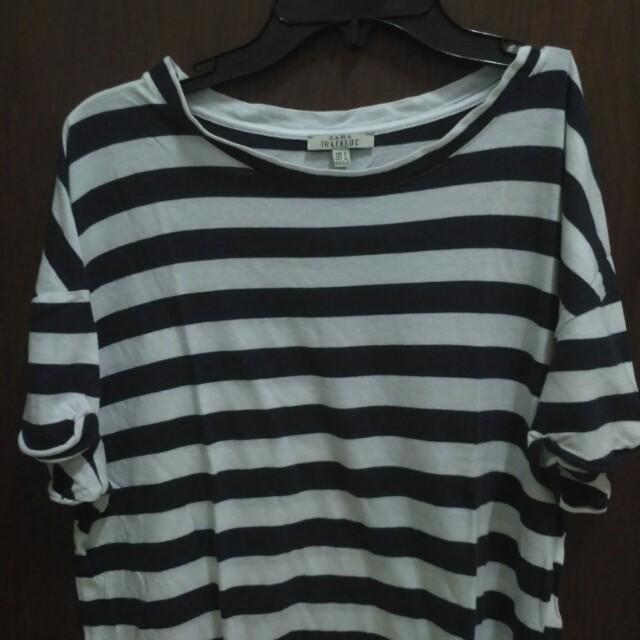 Zara Trafaluc Striped Shirt