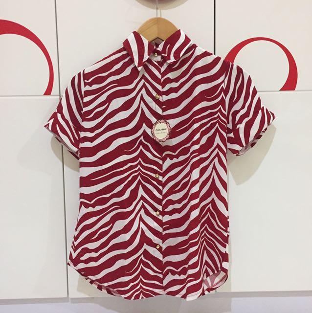 Zebra Printed Shirt (Free Size)