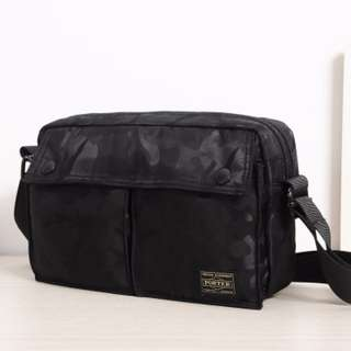 Black Jungle Camo Japan Yoshida porter waterproof Messenger sling chest shoulder  bag pouch carry c17f00a6063b8