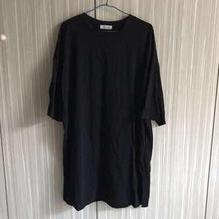 🚚 長版棉t 開衩連身裙