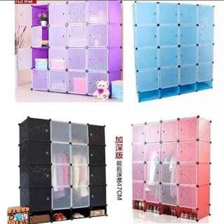 16 Cubes DIY Storage Wardrobe Cabinet