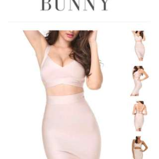 LVST Bunny Nude Two Piece Bandage Set
