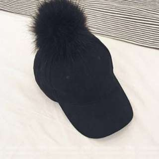 絨毛球球棒球帽#鴨舌帽