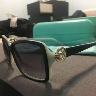 Tiffany & Co. Rectangular Sunglasses in Black and Blue