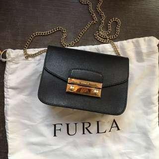 Furla black metropolis bag