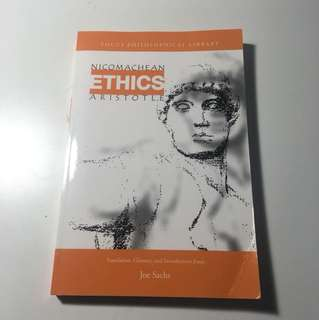 Nicomachean ethics Aristotle PHL text