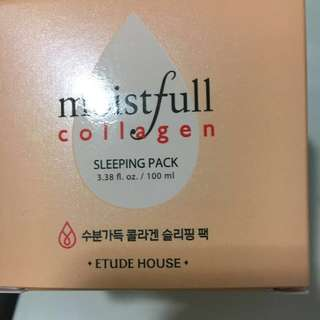 BNIB Étude House Moistfull Collagen Sleeping Pack
