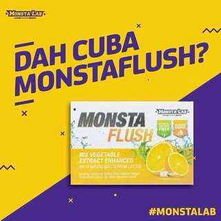 READY STOCK💕MONSTAFLUSH by MONSTALAB/7 Sachets.  Processing Proceed Upon Full Payment Received Via Bank Transfer