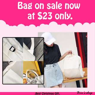 sweet white bag/Schoolbag on sale now! $23 only.