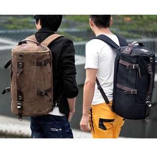 4 Ways Korean Canvas Laptop Notebook Multipurpose Travel Bag Backpack (Expandable)