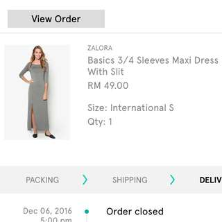 Basic 3/4 Sleeve Maxi Dress by ZALORA