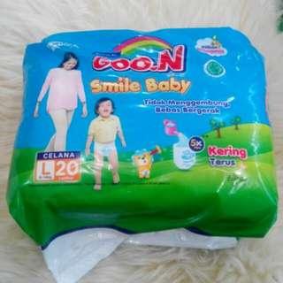 Goon smile baby celana size L 9-14 isi 20pcs