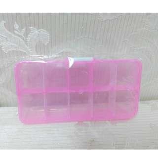 全新 隨身 儲物盒 飾品 收納盒 藥盒 藥丸 首飾盒 戒指盒 整理盒 美甲 工具盒 零件盒 置物盒 分裝盒 塑膠盒 外出