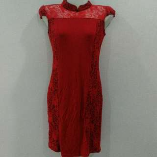 Red Lace Dress *PRELOVED *