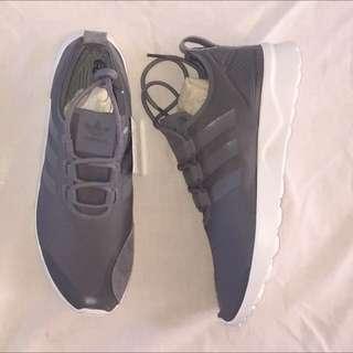 Grey adidas zx flux