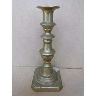 antique repro vintage solid brass candle holder