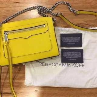 Rebecca Minkoff yellow cross body bag