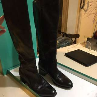Midas Leather Knee High Boots Size 39