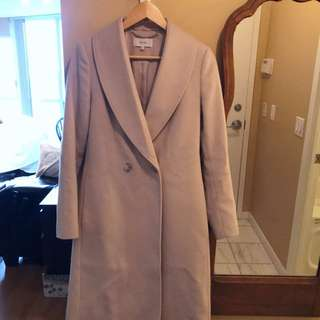 Reiss coat beige wool size 4