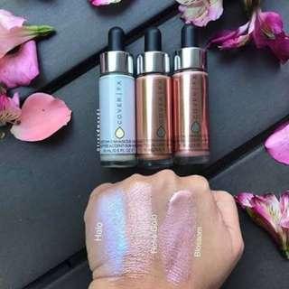 Cover FX custom enhancer liquid highlighter bronzer drops set
