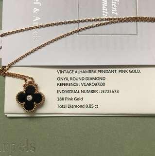 Van Cleef & Arpels Alhambra Limited Edition pendant (18K Pink Gold, 0.05ct)