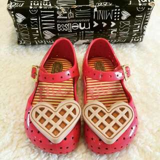🌻 Preloved Authentic Mini Melissa Furadinha VI Pink Waffle S6