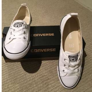NEW White Canvas Converse - Size US7