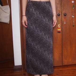 90s leopard print maxi skirt