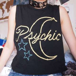 Evil Twin Psychic Sun Moon Muscle Crop Top