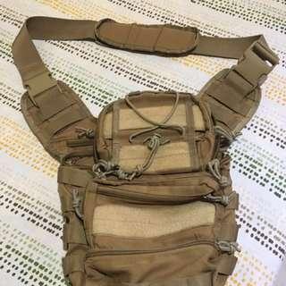 Desert brown body bag/sling