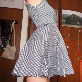 Mink Pink Gingham Skater Dress