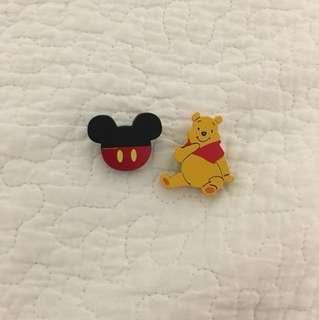 Cute Mickey and Winnie Pins