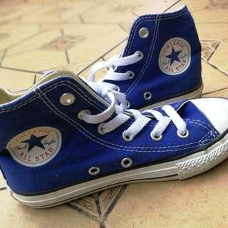 S2: Converse High Cut Electric Blue size uk 12.5