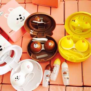 BNIB LINE BROWN CONY SALLY CONTACT LENS CASE BOX SET