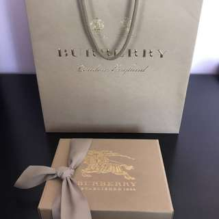 Authentic Burberry gift bag and box