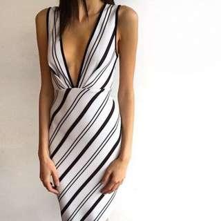 BEC and BRDIGE Cecile Deep V Dress - Size 6