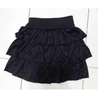 Ruffle Skirt Hitam
