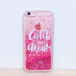 現貨免運💖Catch the dream絕美玫瑰金流沙手機殼 iPhone 6 6S 手機套 保護殼 保護套